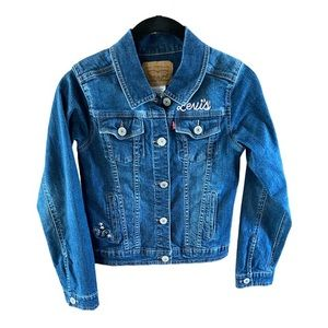 Girls Levi's embroidered jean jacket